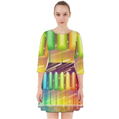 Abstract Landscape Background Smock Dress