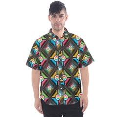 Seamless Pattern Background Abstract Men s Short Sleeve Shirt