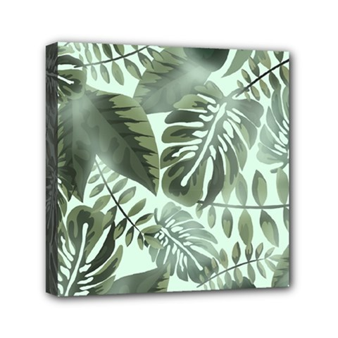 Medellin Leaves Tropical Jungle Mini Canvas 6  X 6  (stretched)
