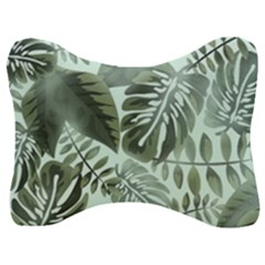 Medellin Leaves Tropical Jungle Velour Seat Head Rest Cushion by Pakrebo