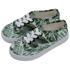 Medellin Leaves Tropical Jungle Kids  Classic Low Top Sneakers by Pakrebo