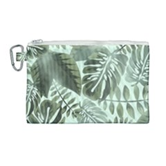 Medellin Leaves Tropical Jungle Canvas Cosmetic Bag (large) by Pakrebo