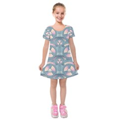 Seamless Pattern Seamless Design Kids  Short Sleeve Velvet Dress by Pakrebo