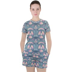 Seamless Pattern Seamless Design Women s Tee And Shorts Set