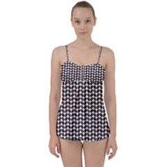 Coffee Beans Pattern Illustrator Babydoll Tankini Set