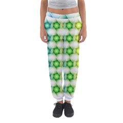 Background Colorful Geometric Women s Jogger Sweatpants