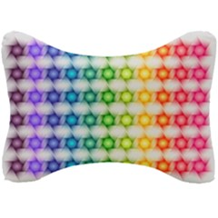 Background Colorful Geometric Seat Head Rest Cushion