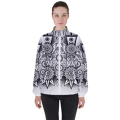 Forest Patrol Tribal Abstract Women s High Neck Windbreaker