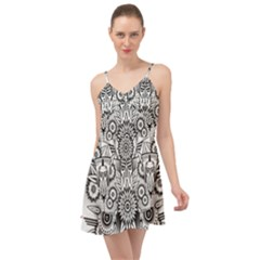Forest Patrol Tribal Abstract Summer Time Chiffon Dress