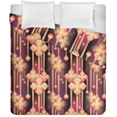 Illustrations Seamless Pattern Duvet Cover Double Side (California King Size)