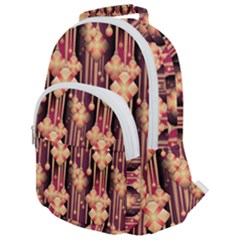 Illustrations Seamless Pattern Rounded Multi Pocket Backpack