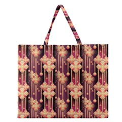 Illustrations Seamless Pattern Zipper Large Tote Bag