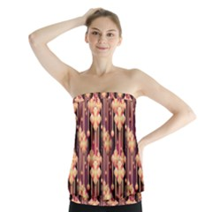 Illustrations Seamless Pattern Strapless Top