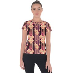Illustrations Seamless Pattern Short Sleeve Sports Top