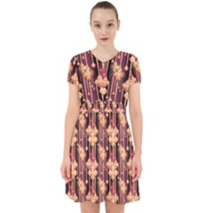 Illustrations Seamless Pattern Adorable in Chiffon Dress