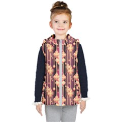 Illustrations Seamless Pattern Kids  Hooded Puffer Vest