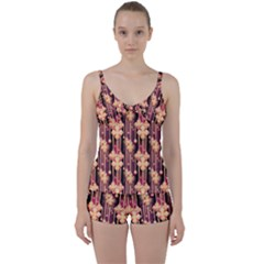 Illustrations Seamless Pattern Tie Front Two Piece Tankini