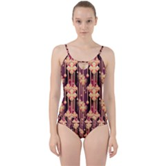 Illustrations Seamless Pattern Cut Out Top Tankini Set
