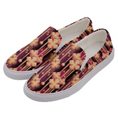 Illustrations Seamless Pattern Men s Canvas Slip Ons