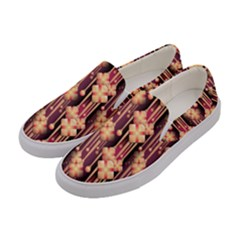Illustrations Seamless Pattern Women s Canvas Slip Ons