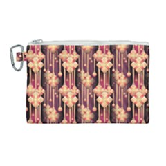 Illustrations Seamless Pattern Canvas Cosmetic Bag (Large)