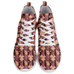 Illustrations Seamless Pattern Men s Lightweight High Top Sneakers