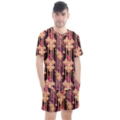 Illustrations Seamless Pattern Men s Mesh Tee and Shorts Set