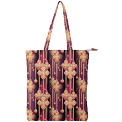 Illustrations Seamless Pattern Double Zip Up Tote Bag