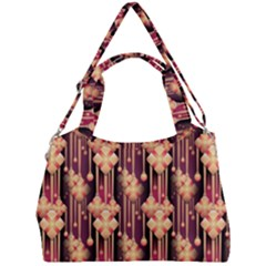 Illustrations Seamless Pattern Double Compartment Shoulder Bag