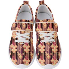 Illustrations Seamless Pattern Men s Velcro Strap Shoes