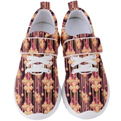 Illustrations Seamless Pattern Women s Velcro Strap Shoes