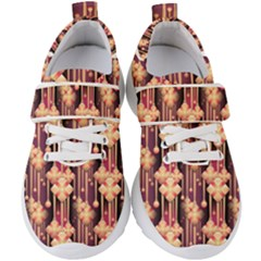 Illustrations Seamless Pattern Kids  Velcro Strap Shoes