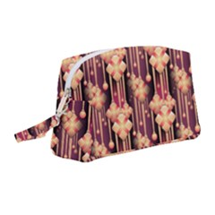 Illustrations Seamless Pattern Wristlet Pouch Bag (Medium)