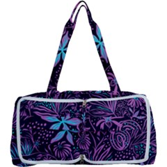 Stamping Pattern Leaves Drawing Multi Function Bag