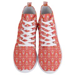 Seamless Pattern Background Men s Lightweight High Top Sneakers