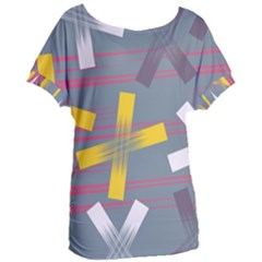 Background Abstract Non Seamless Women s Oversized Tee