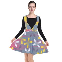 Background Abstract Non Seamless Plunge Pinafore Dress
