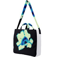 Blue And Yellow Tulip Square Shoulder Tote Bag