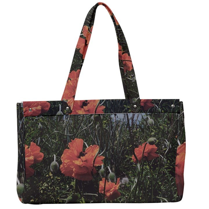 Faded Poppy Field  Canvas Work Bag