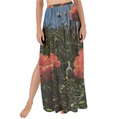 Faded Poppy Field  Maxi Chiffon Tie Up Sarong by okhismakingart
