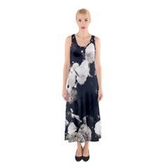 High Contrast Black And White Snowballs Ii Sleeveless Maxi Dress by okhismakingart
