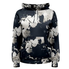 High Contrast Black And White Snowballs Ii Women s Pullover Hoodie by okhismakingart