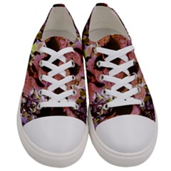 Pink Snowballs Women s Low Top Canvas Sneakers