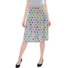 Social Disease - Polka Dot Design Midi Beach Skirt