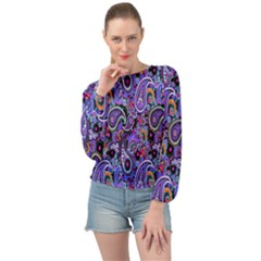 Paisley 2 Banded Bottom Chiffon Top by impacteesstreetwearfive