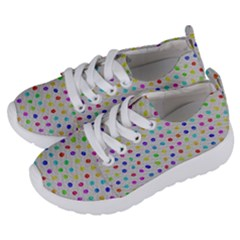 Social Disease   Polka Dot Design Kids  Lightweight Sports Shoes by WensdaiAmbrose