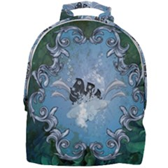 Surfboard With Dolphin Mini Full Print Backpack