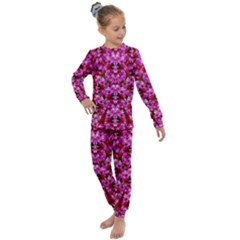 Flowers And Bloom In Sweet And Nice Decorative Style Kids  Long Sleeve Set  by pepitasart