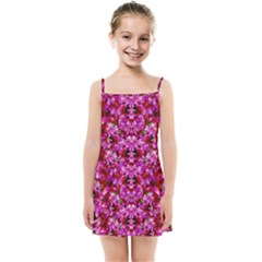 Flowers And Bloom In Sweet And Nice Decorative Style Kids  Summer Sun Dress by pepitasart