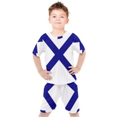 Saint Andrew s Cross Kids  Tee And Shorts Set by abbeyz71